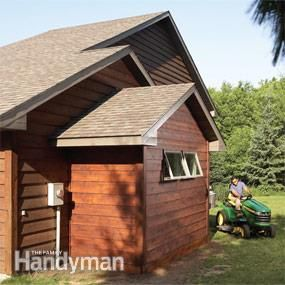 Create space in your garage for a motorcycle, ATV, riding mower, woodworking tools or odds and ends with this simple, wood-foundation addition.