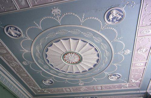 Adam style Georgian ceiling, Beckenham Place, London
