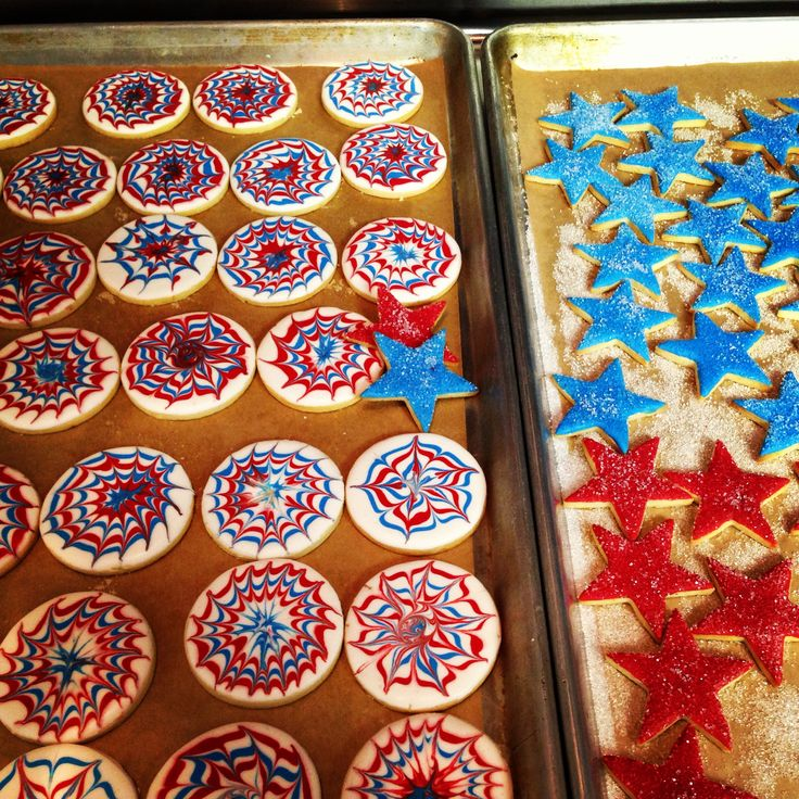Fireworks decorated cookies | Pint Size Bakery cookies! | Pinterest
