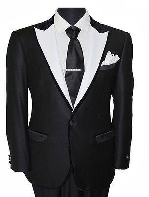 1 Button Front Closure Satin Lapel Blazer Jacket for Men Side Vents sweat guards