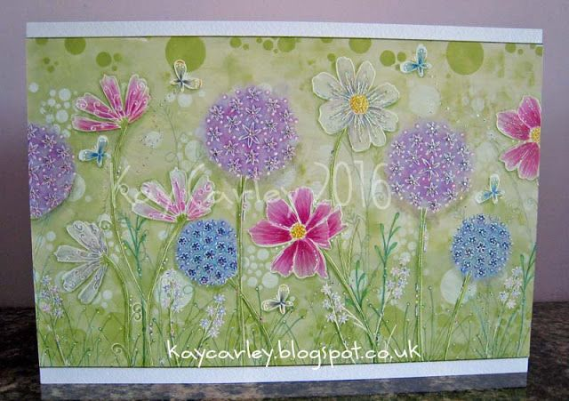 Kay's Crafty Corner: Mother's Day Card made using EKC01 and EKC02 along with Fresco Finish paints and Copics