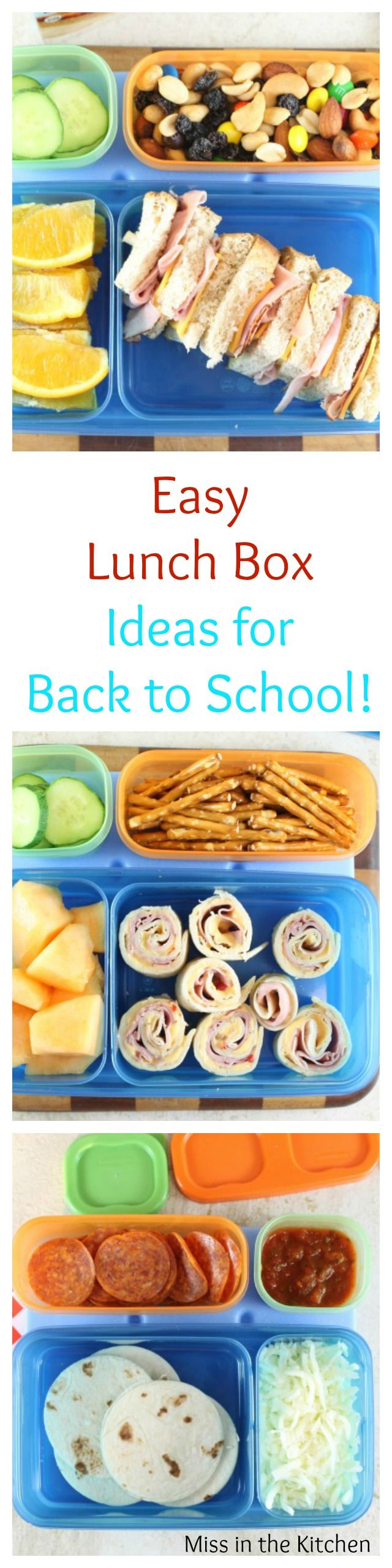 Easy Lunch Box Ideas with Rubbermaid LunchBlox Ideas ~ from MissintheKitchen.com #ad