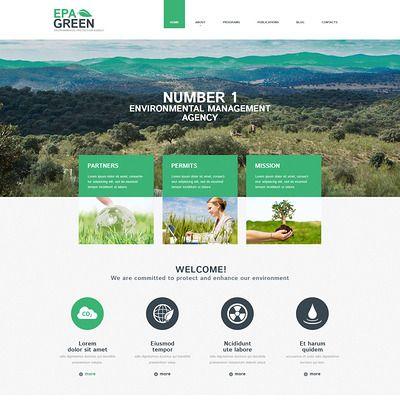 Thème WordPress adaptatif  pour site écologique
