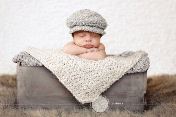 Bébé garçon irlandais Donegal Cap par TSBPhotoProps sur Etsy, $19.00