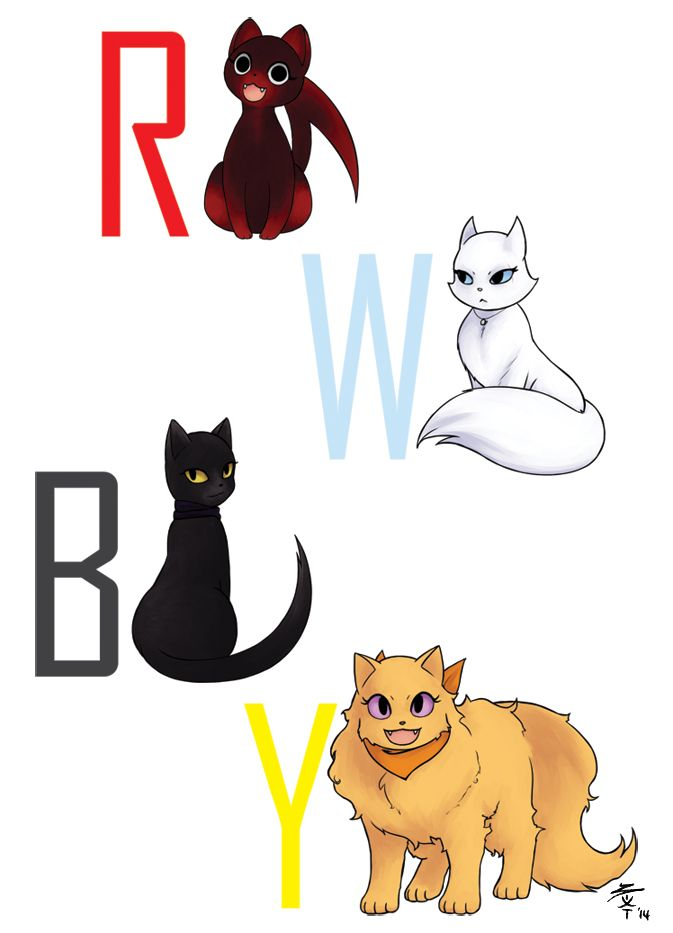 RWBY cats by SaltyKumquats on DeviantArt