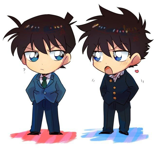 case closed ran and shinichi relationship