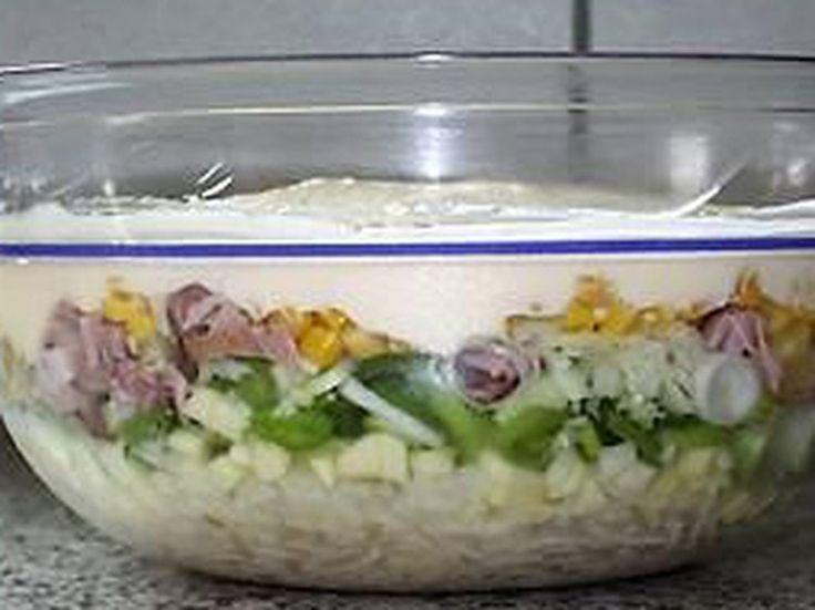Salade de poireaux et d'ananas