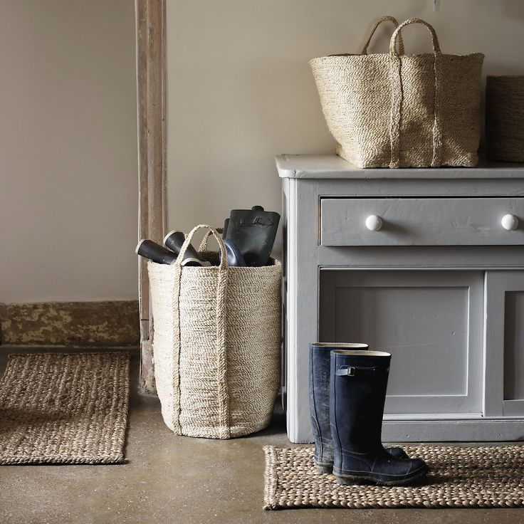 Buy Home Accessories > Laundry & Storage > Large Jute Basket from The White Company