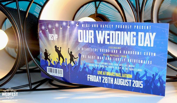 concert ticket wedding invitation http://www.wedfest.co/concert-gig-ticket-wedding-invites/