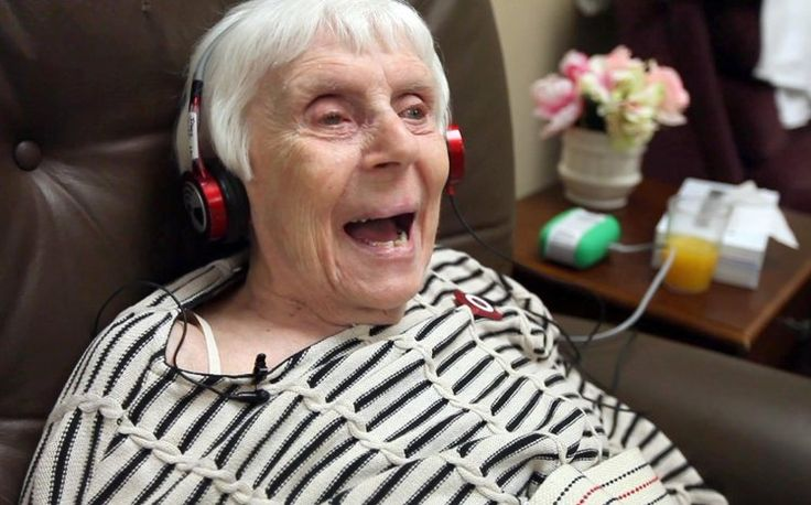 Irene Wade, who will turn 100 in December, smiles wide