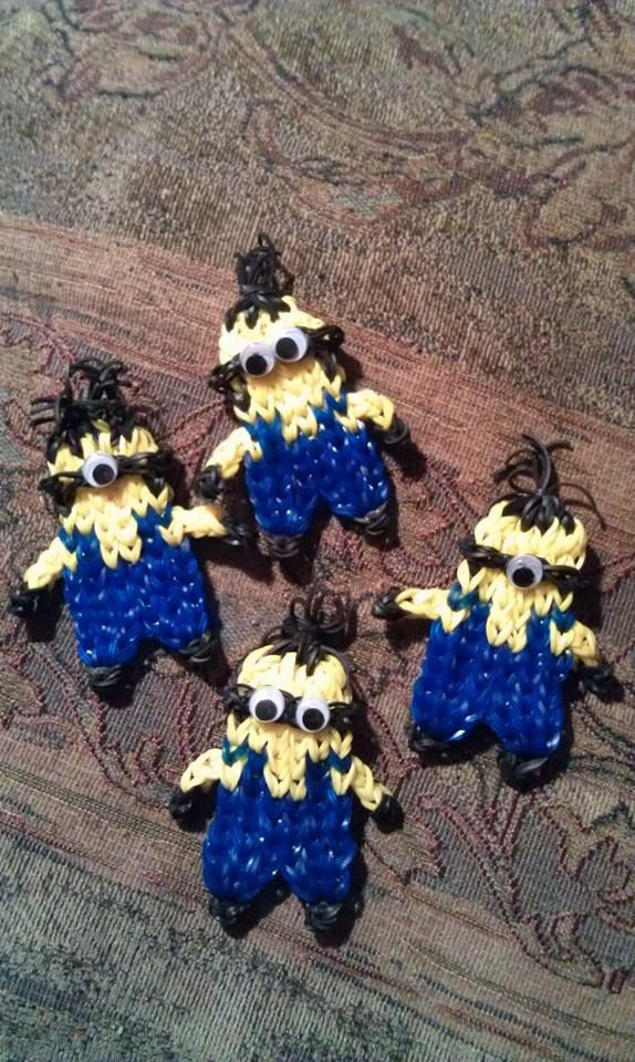 my minions...Rainbow loom   Christine Slack Youngblood designed
