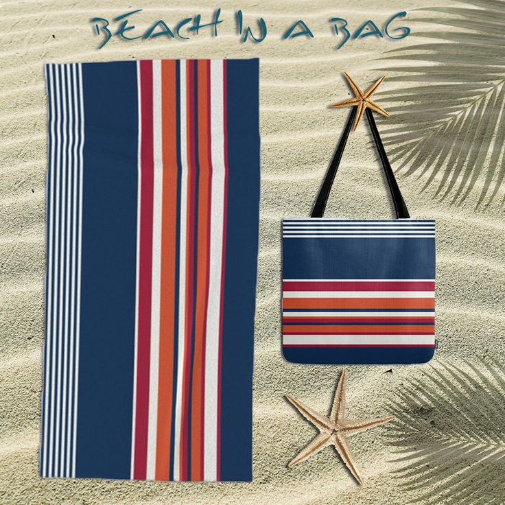 Beach towel,oversized beach towel,nautical towel,nautical tote bag,,navy tote bag,bundle,beach bag,beach tote bag,,beach accessories,stripes by OkopipiDesign on Etsy