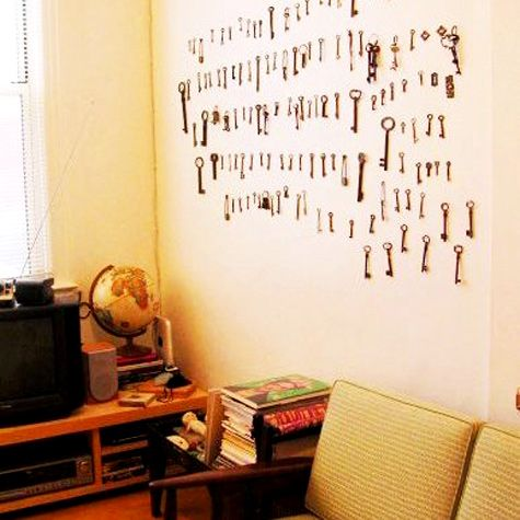 decorating with old keys