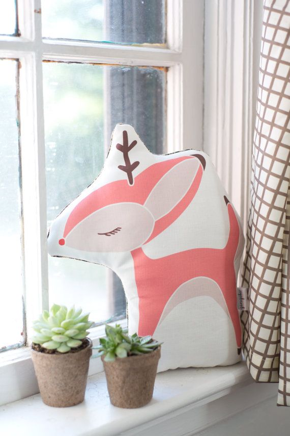 Limited Edition Reindeer Pillow Handmade by Gingiber, $32.00