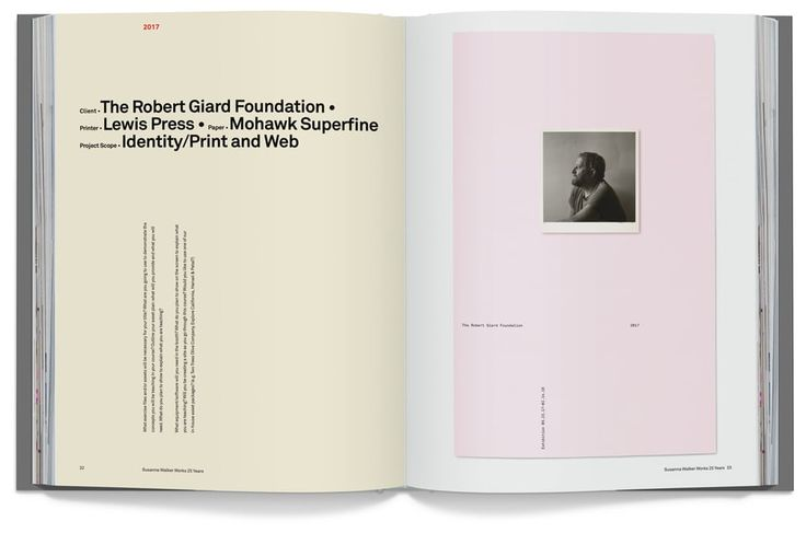 Susanna Walker 25 Years, Book Design ,Sean Adams