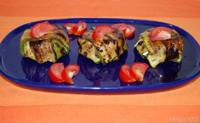Timballini di zucchine al salmone