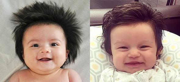 Κάποιαμωρά γεννιούνται με λίγα ή με καθόλου μαλλιά. Άλλα, όμως, η φύση τα προικίζει με μαλλί... κομμωτηρίου!