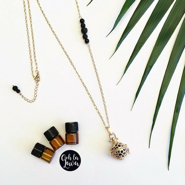 Lava Jewellery | Aromatherapy Necklace, add essential oil to lava stone. #lavafashion