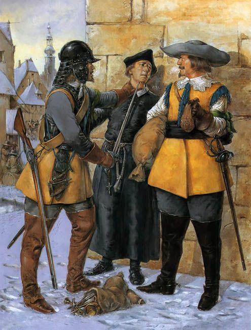 The Army of Gustavus Adolphus - German mercenary cavalry • Arquebusier  • Jesuit priest  • Reiter