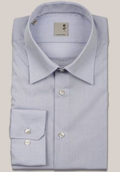 SCHWARZE ROSE Hemd extra langer Arm mit Basic Kent Kragen in Uni hellblau