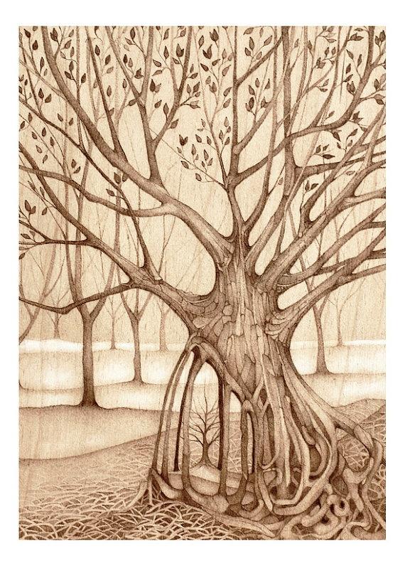 More magical tree art