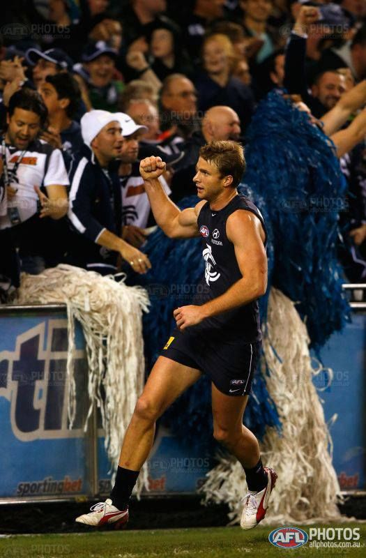 Blues break the four game curse against St Kilda last night to keep their finals hopes alive and give Kreuzer a 100 game milestone to remember.