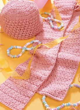 Mary Maxim - Crocheted Pretty in Pink Pattern