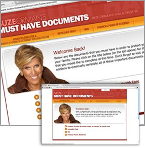 Suze Products : Collections & Kits : Suze Orman's Must Have Documents : Personal Financial Guru : Suze's Collection of Books, CDs, Videos and Finance Kits