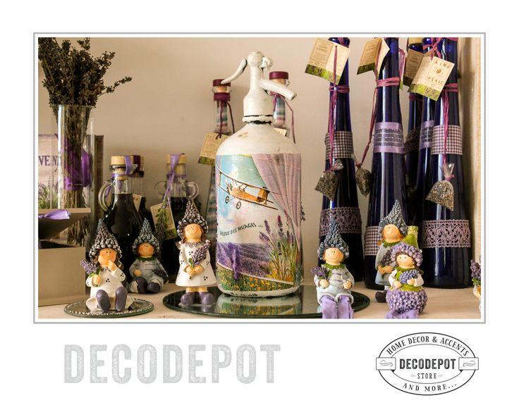 Set bibelouri decorative din colecţia Levănţică. DecoDepot. Shop Online. Braşov. România. Trinkets. Purple. Lavender. Collection.