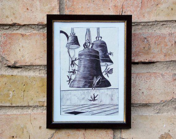 Original drawing Original painting Graphics от KseniaArtDesign