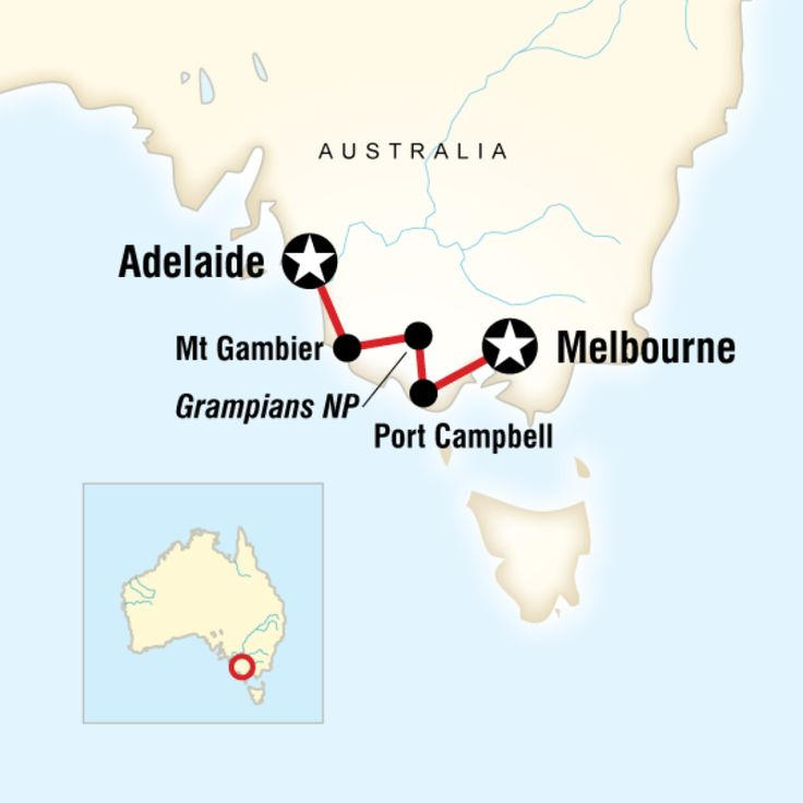 GAdventures - GREAT OCEAN ROAD WEST–MELBOURNE TO ADELAIDE 5 days, Melbourne to Adelaide