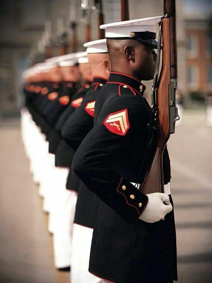 Marines silent drill team