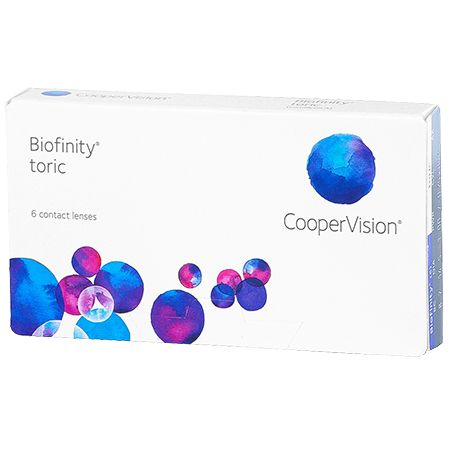 Biofinity Toric Contact Lenses: Biofinity Toric lenses are naturally wettable and feature a soft, low modulus material for great comfort…