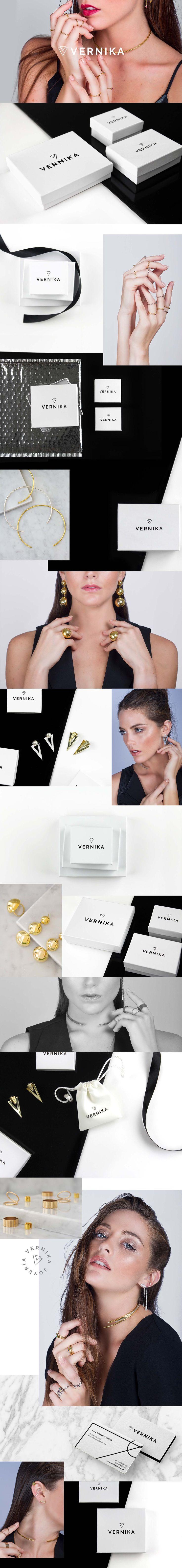 Jewelry branding Vernika Joyería by Puro Diseño https://www.behance.net/gallery/47570819/Vernika-Joyeria www.purodiseno.rocks
