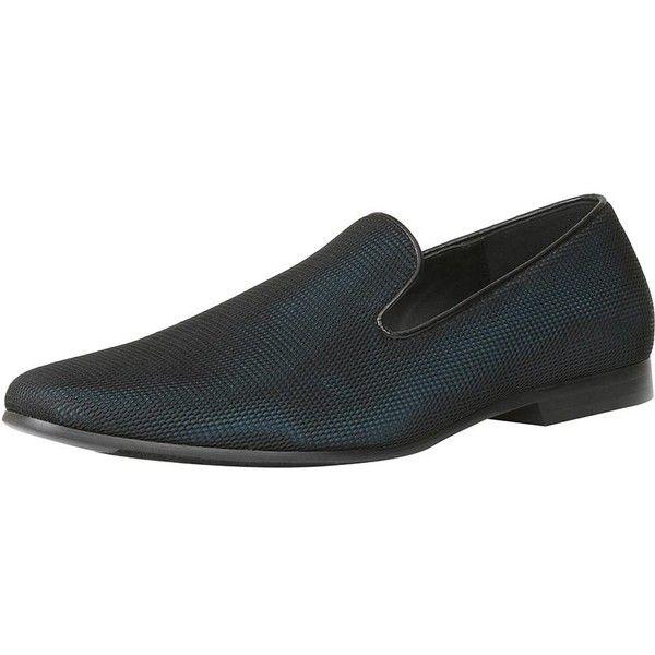 Giorgio Brutini Men's Formal Round-Toe Slip-On Slipper - Black, Size... ($49) ❤ liked on Polyvore featuring men's fashion, men's shoes, black, mens formal shoes, mens patent leather formal shoes, mens woven leather slip-on shoes, mens shoes and mens slipon shoes