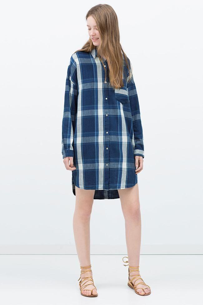 Vestidos y camisas premamá en la colección verano 2015 de Zara