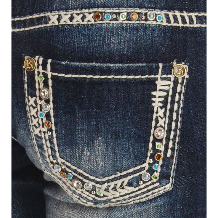 Rock N Roll Cowgirl Multi Color Stone Jeans - finally got an amazing deal from langstons on these!! happ v-day to me