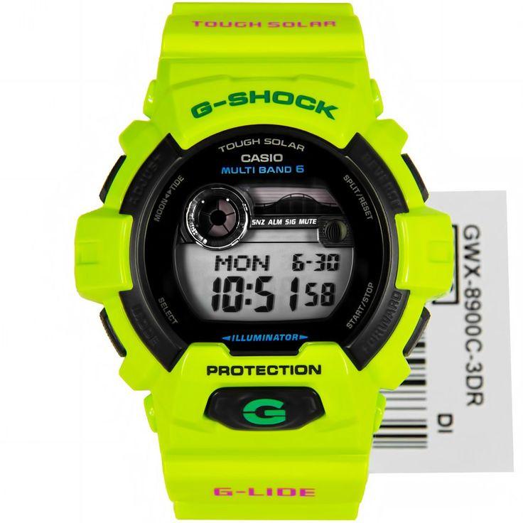 Casio G-Shock Solar Neon Green Surfers Watch GWX-8900C-3