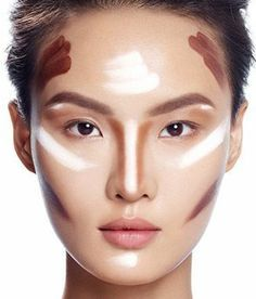 sculpturing visage asiatique tuto en photos, maquillage yeux bridés