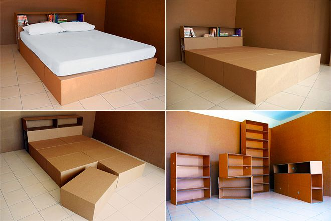 cardboard furniture! what's not to like about recyclable furniture? just beware of them pesky termites! :)
