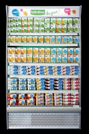 La marque-phare du groupe Danone lance une nouvelle gamme de produits frais, Blédina du Jour. Vendue dans un meuble réfrigéré, comme un yaourt, cette gamme pourrait représenter 20% à 25% de ses ventes dans 5 à 7 ans.