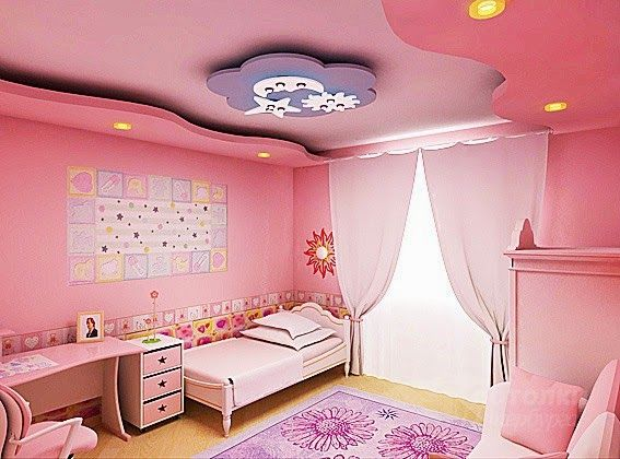 New tips for false ceilings in the pink kids room, #kids #ceiling