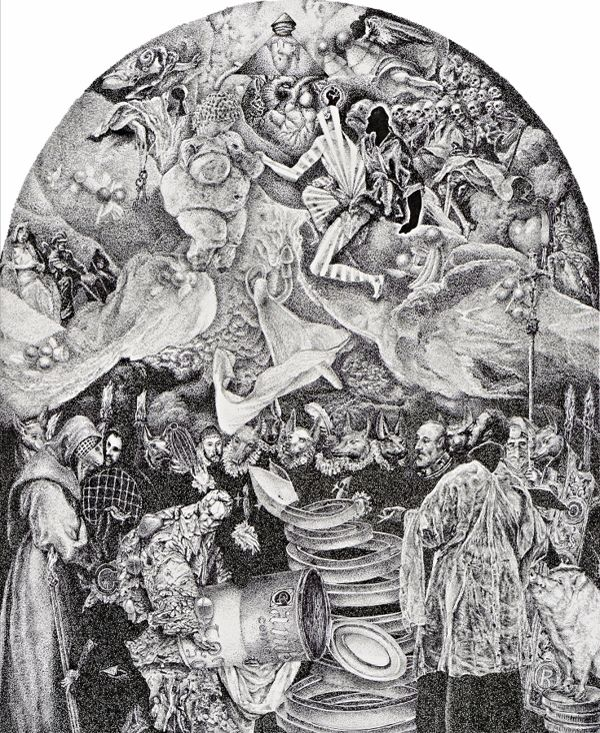 "Giorgos Karakasoglou - ""The burial of the count of Orgaz"" | Ena art Gallery | Athens #art #exhibition #el_greco #athens #gallery #kolonaki # greece"