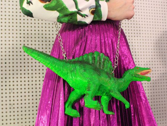 Dinosaur clutch bag by rommydebommy on Etsy