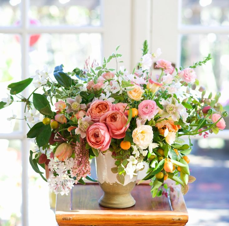 Spring images from Kiana Underwood of Tulipina Floral Design. Lush, garden-style spring arrangements straight from the garden.