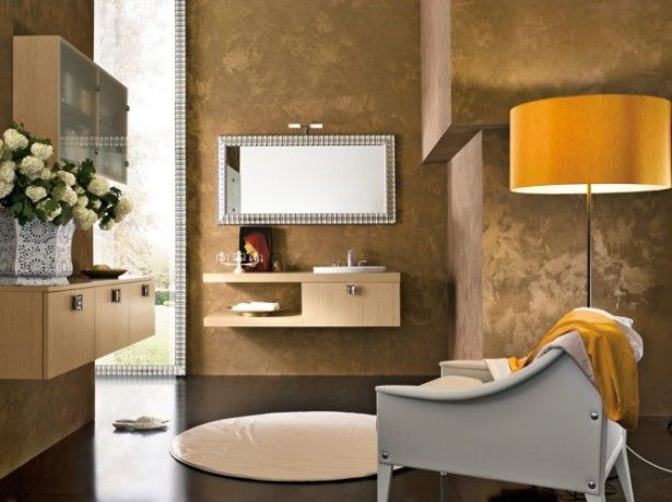 Astonishing 48 Modern Bathrooms: Wonderful Contemporary Bathroom Design  With Their Amazing Looks And Ordinary Arrangement Also Yellow Bathroom Wall  With ... Awesome Ideas