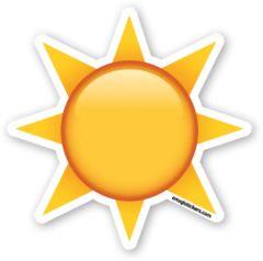 Black Sun with Rays | Emoji Stickers