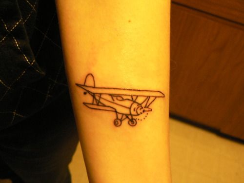 plane tattoo this is totally close to what I want.