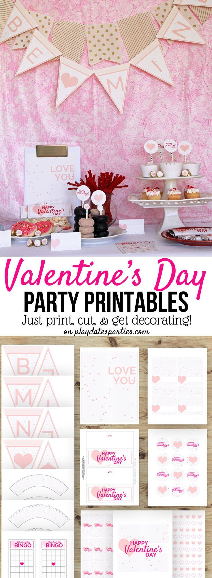 Valentine's Day Party Printables Package