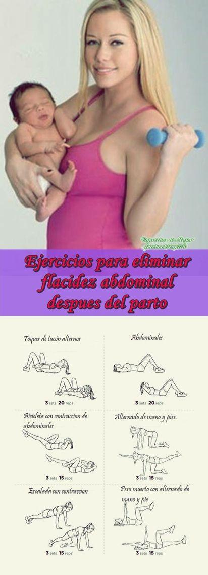 Ejercicios para flacidez abdominal después del parto